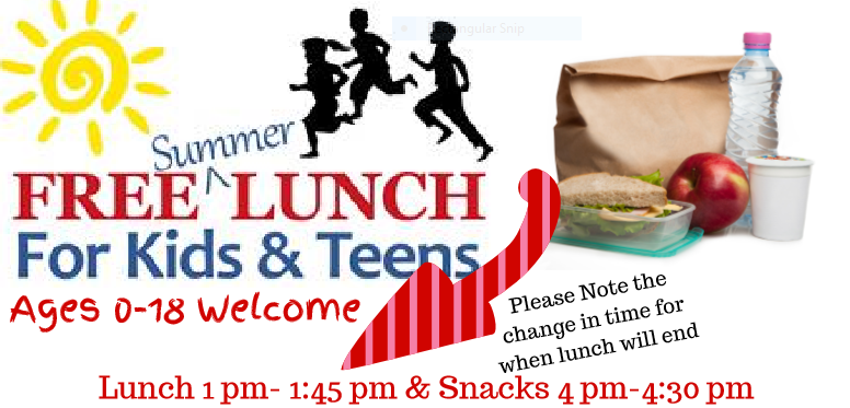 Serving Time Changed for Free Summer Lunch Program