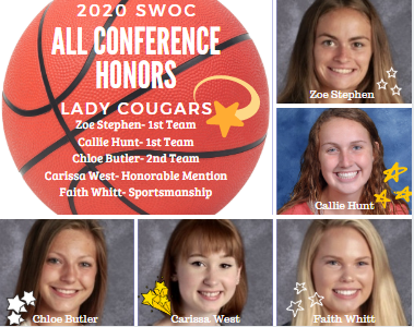 Lady Cougars Receive All Conference Honors