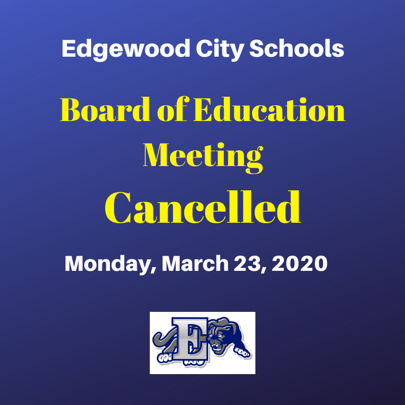 Board Meeting Cancelled