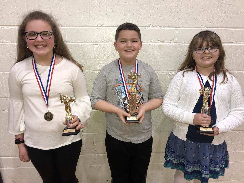 Seven Mile Elementary Spelling Bee Champions