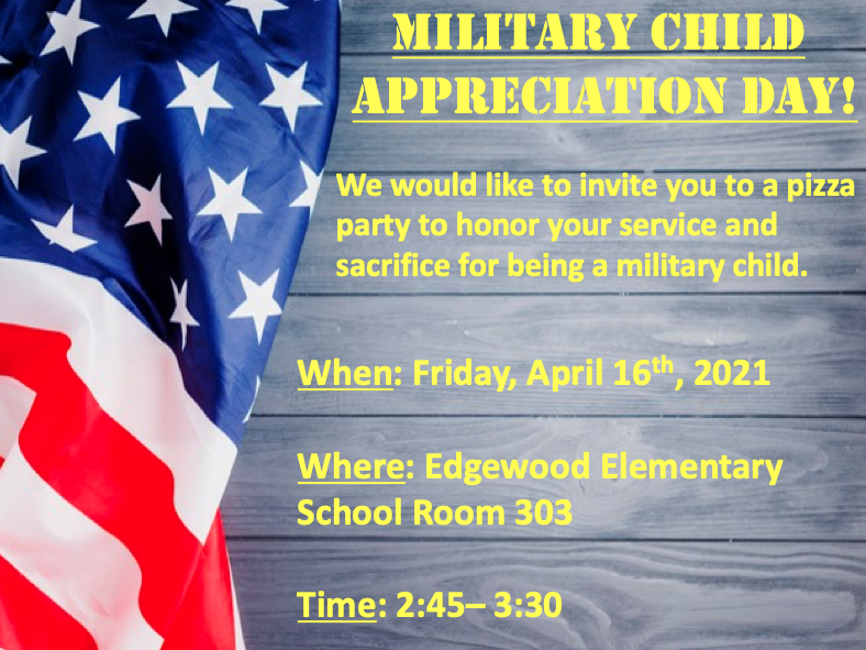 EES Hosting Military Child Appreciation Day!