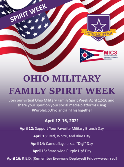 EES celebrates Ohio Military Family Spirit Week