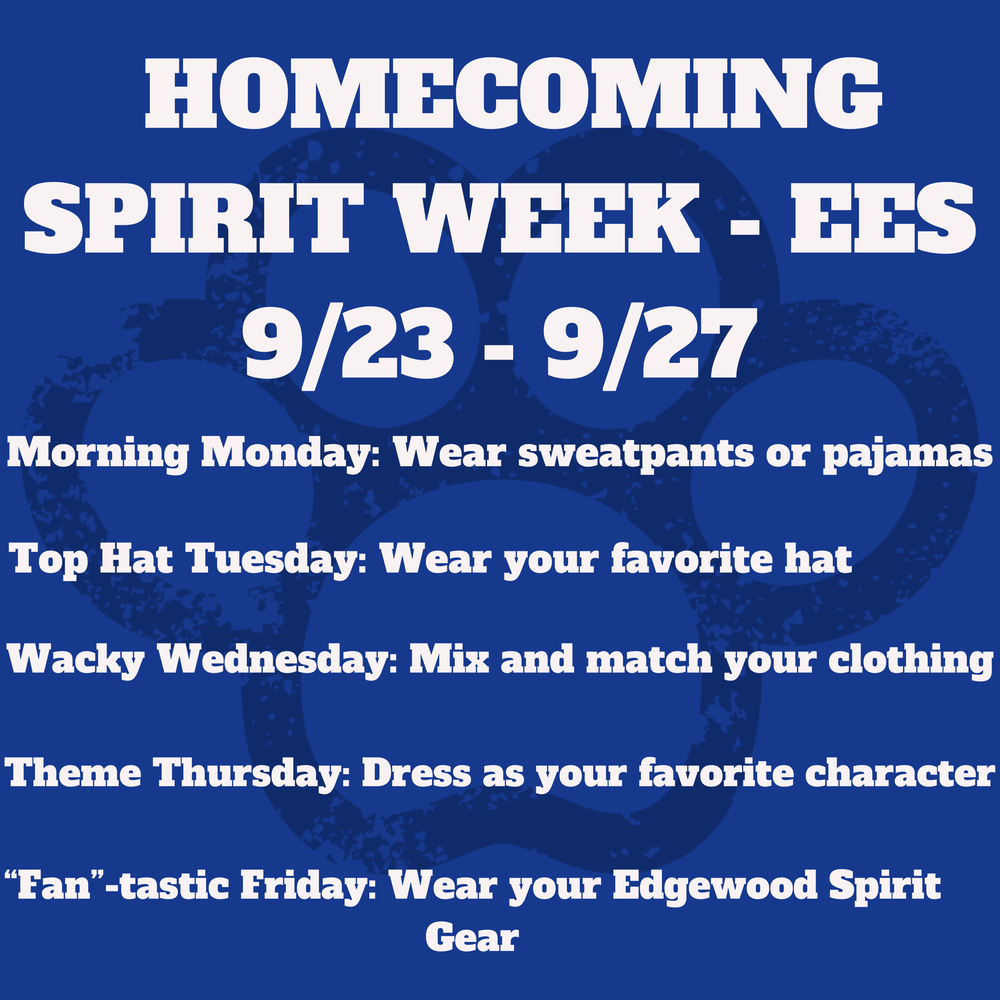 Homecoming Spirit Week Planned for EES