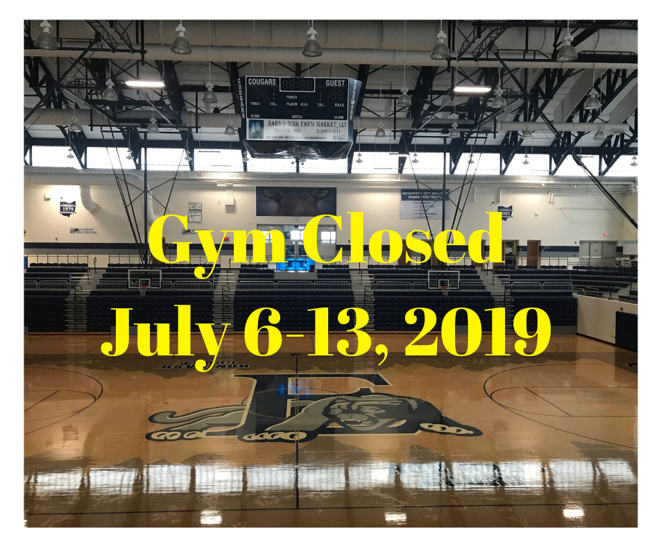 EHS Gym Closed July 6-13