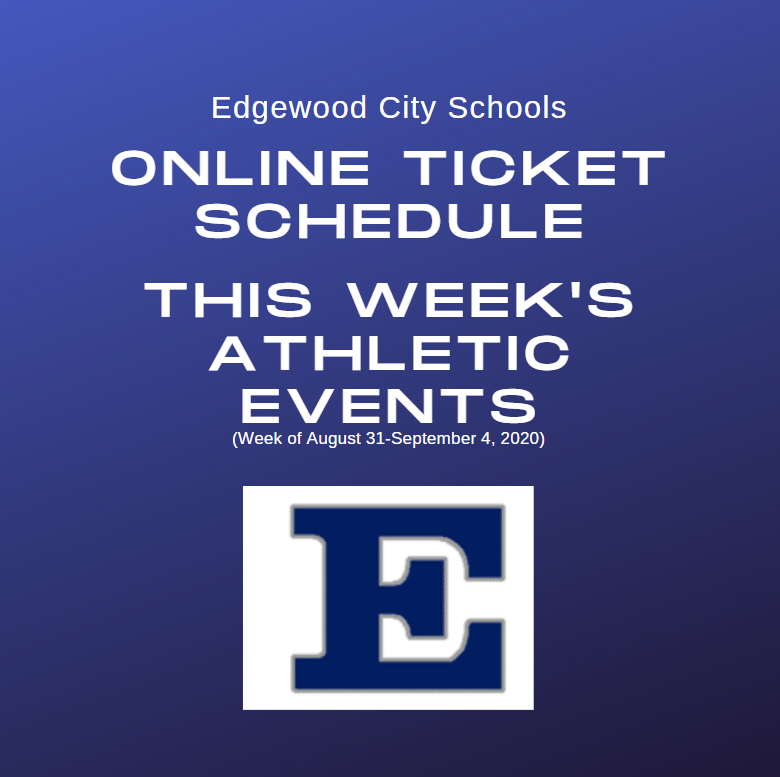 Athletic Events: Online Ticket Schedule (Week of August 31- September 4)