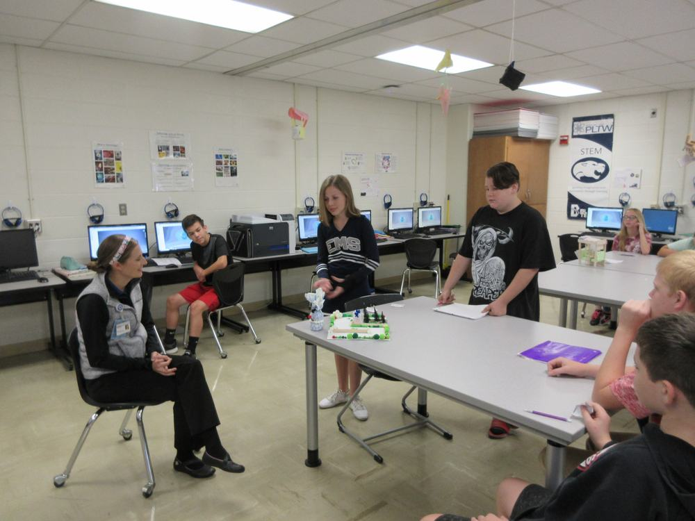 EMS STEM Class Students Create Therapeutic Toy