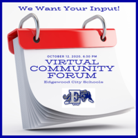Join Us Monday, October 12 for our Virtual Community Forum