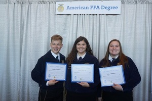 Congratulations to these Edgewood Alumni on Earning their American FFA Degree