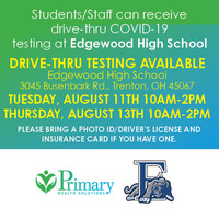 Free COVID-19 Testing Offered on August 11 and August 13
