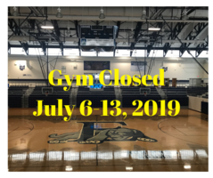 EHS Gym Closed for Cleaning