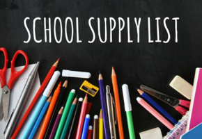 School Supply List for 2019-2020 School Year