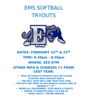 EMS Softball Tryouts