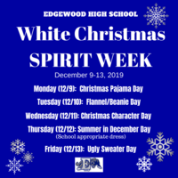 EHS White Christmas Spirit Week & Quarter Wars