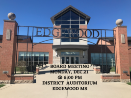 Edgewood BOE Meeting Monday, Dec. 21, 2020