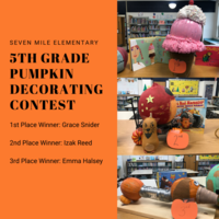Seven Mile 5th Graders Competed in Pumpkin Decorating Contest
