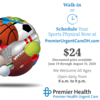 Sports Physicals Available at Premier Health Urgent Care location (only available at specific locations)