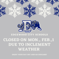 Edgewood City Schools Closed Monday, Feb. 1