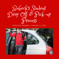 New Process for Student Drop Off and Pick-Up Process Starts Monday, January 6