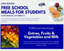 USDA Waiver- Free Meals for Students