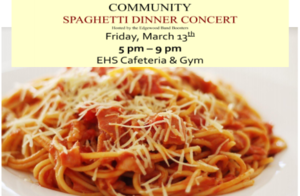 CANCELLED-Community Spaghetti Dinner and Concert