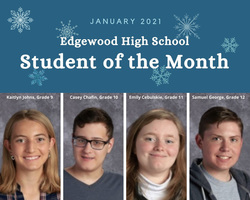 Congratulations to the EHS Student of the Month Award Winners