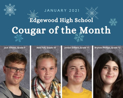 Congratulations EHS Students named Cougar of the Month Award Winners
