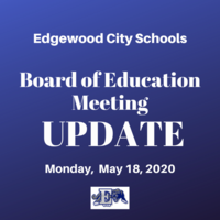 May Board of Education Meeting- May 18