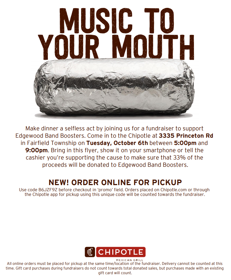 Chipotle fundraiser graphic