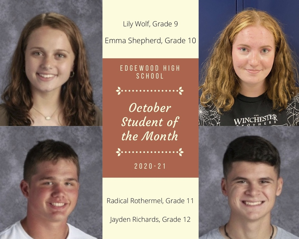 October Student of the Month Graphic
