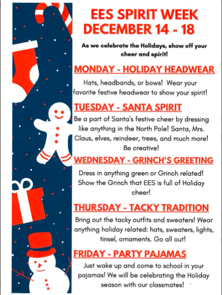 EES SPIRIT WEEK DECEMBER 14-18