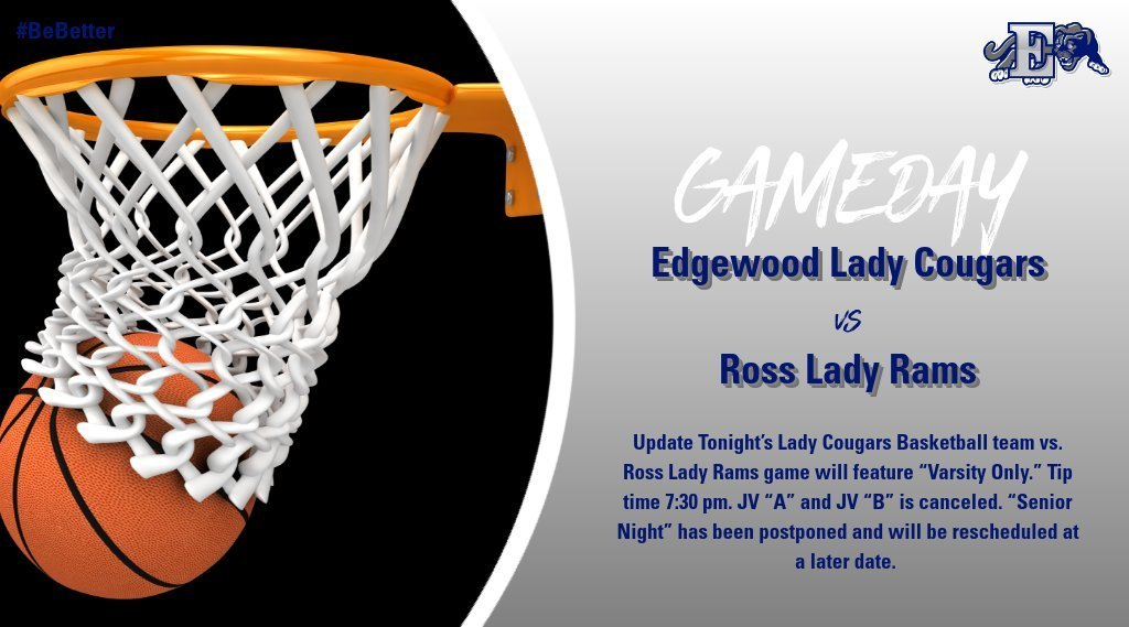 Update Lady Cougars vs  Ross Lady Rams