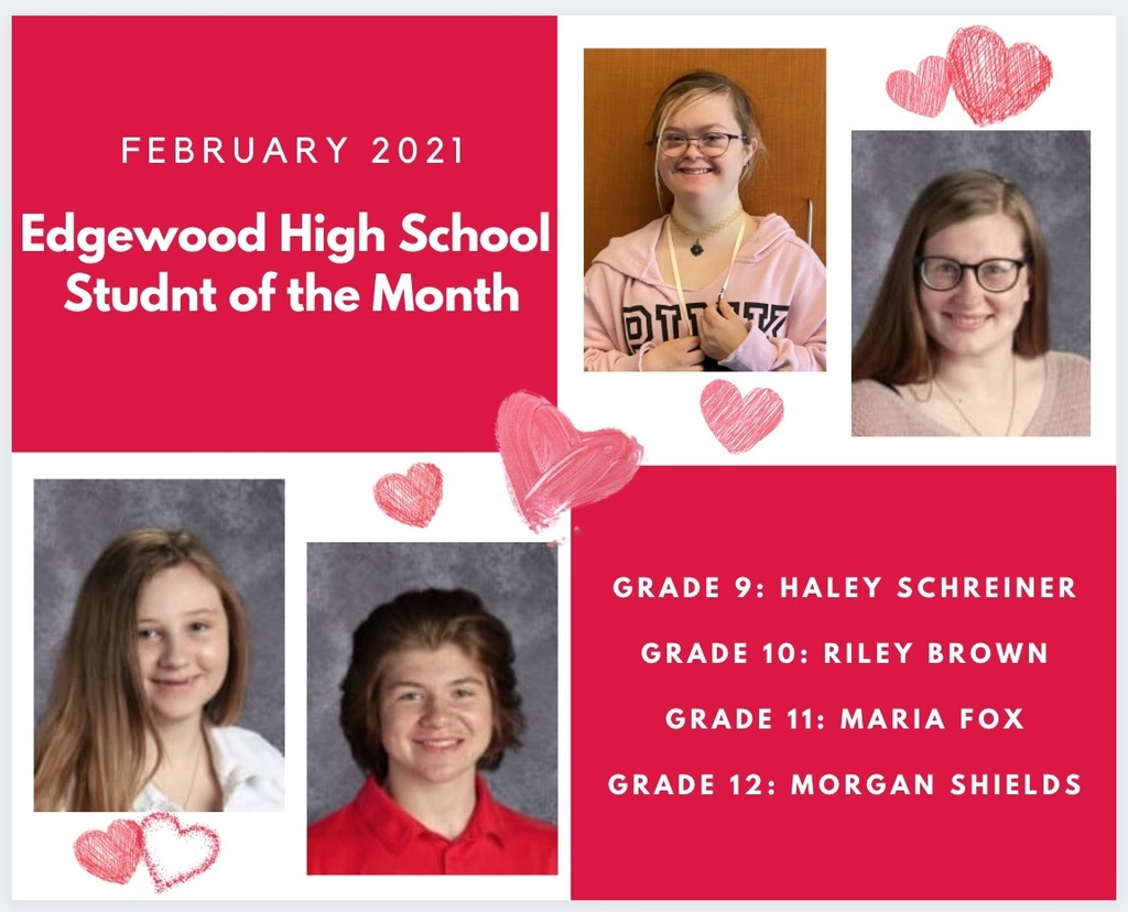 February Student of the Month Graphic