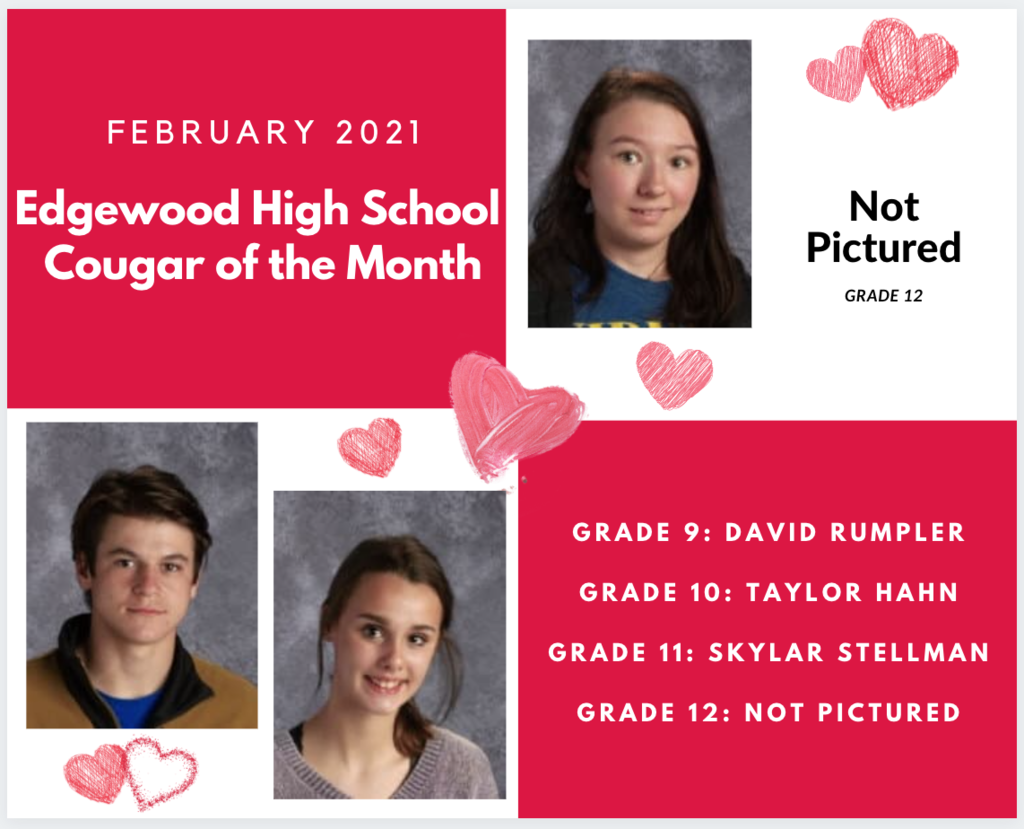 February Cougar of the Month Graphic