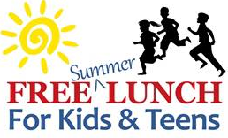 Free summer lunch for kids graphic