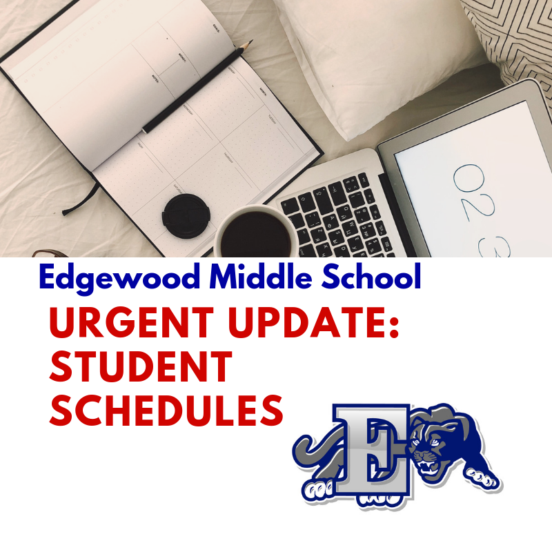 Urgent update on schedules