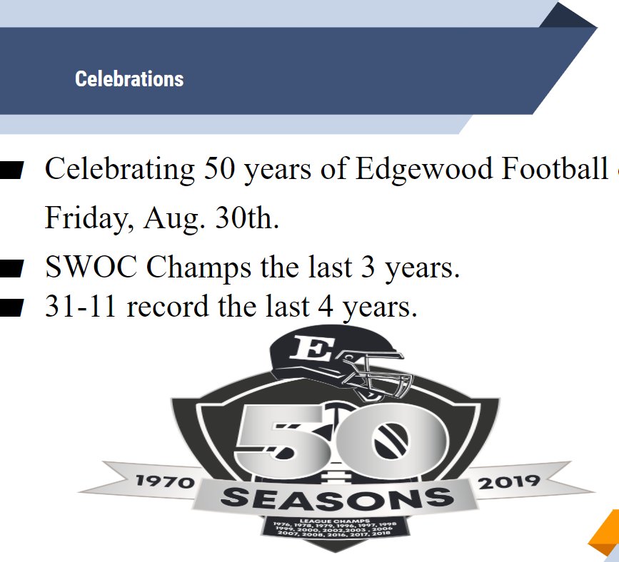 EHS football celebrates 50th Anniversary