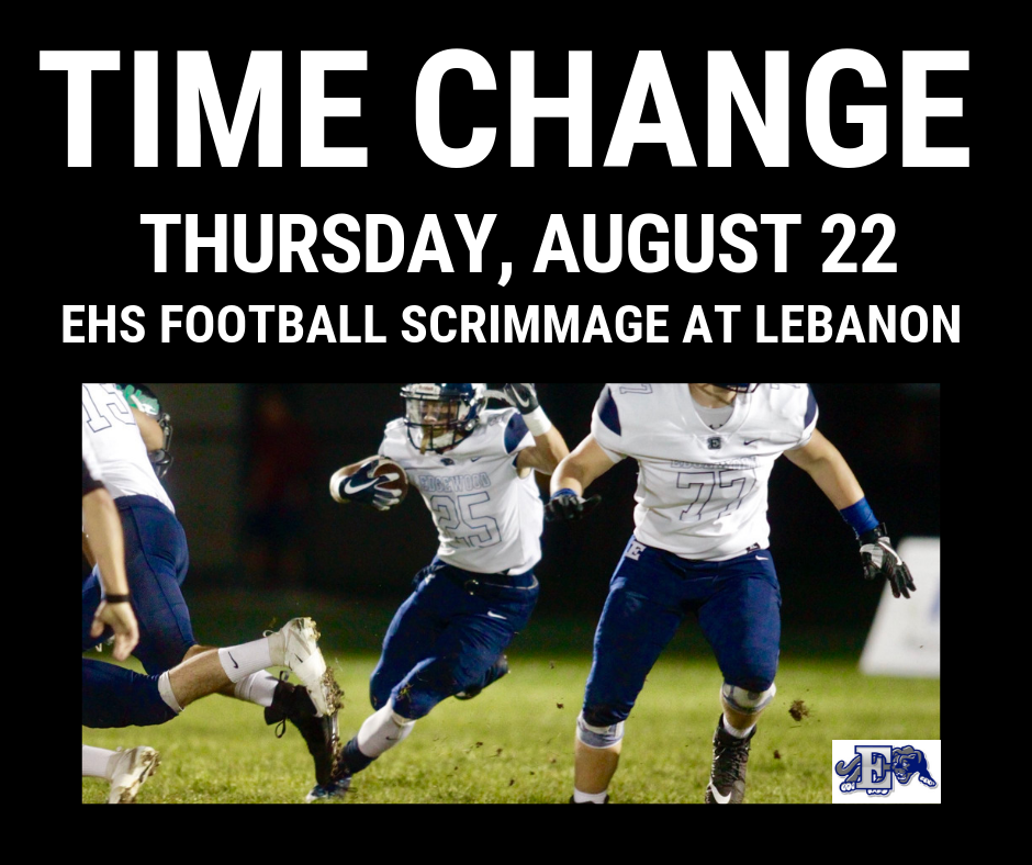 Time change graphic for football scrimmage