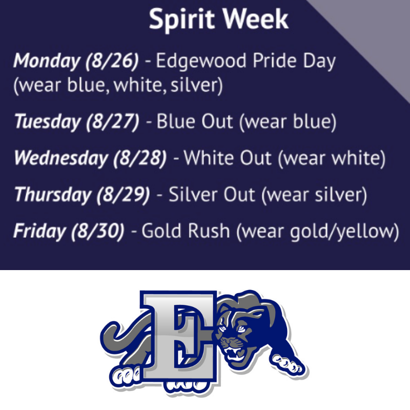 EHS Spirit Week graphci