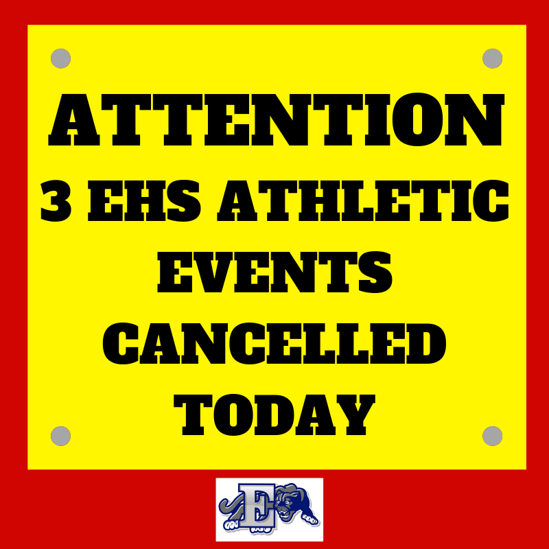 Athletic Events Cancelled Today notification