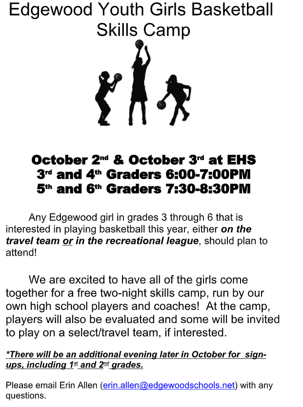 Girls Youth BB Skills Camp information