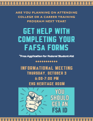 Information Meeting for completing FAFSA Forms