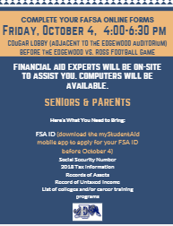 Complete your FAFSA Forms on Oct. 4