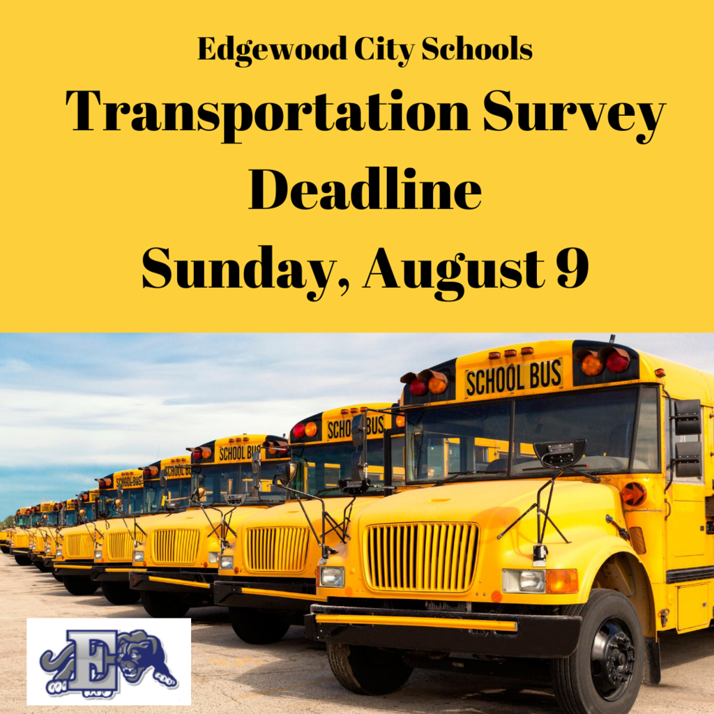 Transportation Survey Deadline graphic