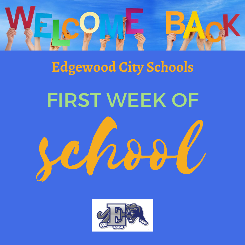 First week of school graphic