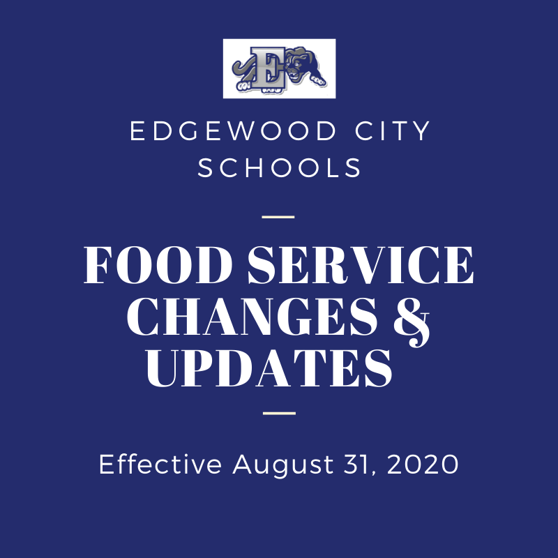 Food Service changes graphic
