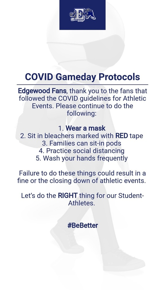 COVID Gameday Protocol for spectators