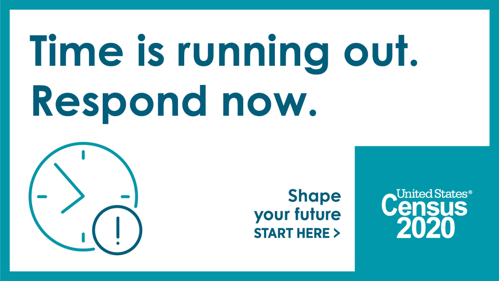 Time is running out Census2020 graphic
