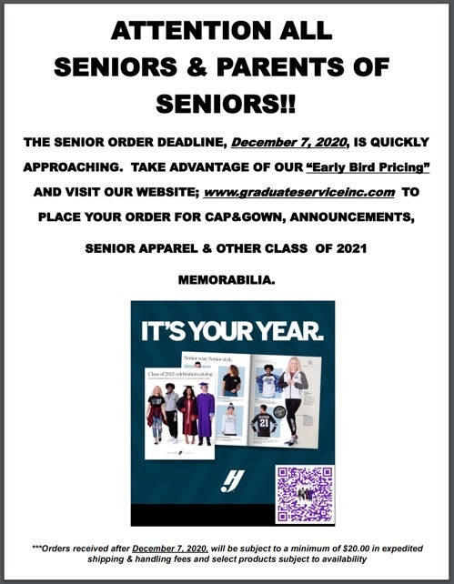 EHS Seniors: Cap and Gown Deadline is Approaching