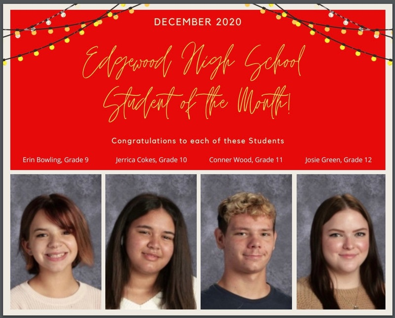 EHS December - Student of the Month and Cougar of the Month