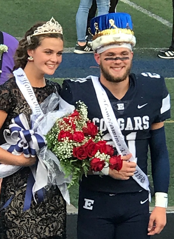 Homecoming Queen Lauren Butts and Homecoming King Lincoln Howell